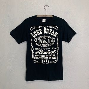 Luke Bryan Jack Daniel style 2015 graphic T-shirt